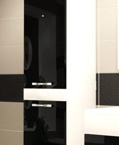 Vysoká závěsná koupelnová skříňka Elaila bcl 1