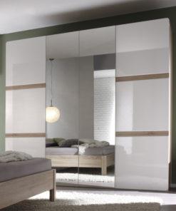 Šatní skříň se zrcadlem Sicilia 1 - světlá