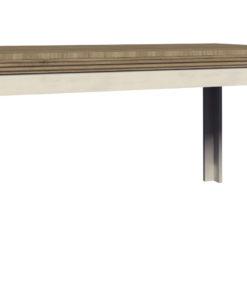 Rustikální jídelní stůl Meryl - borovice nordic / dub divoký
