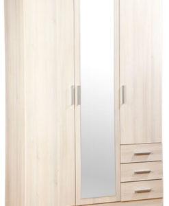 Šatní skříň se zrcadlem Manzula 2